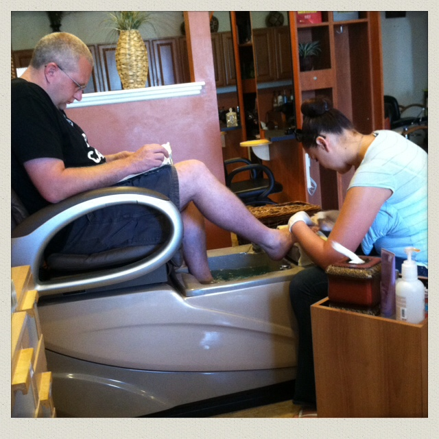 man-pedicure