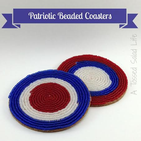 10 Patriotic Decorations Beaded Coasters