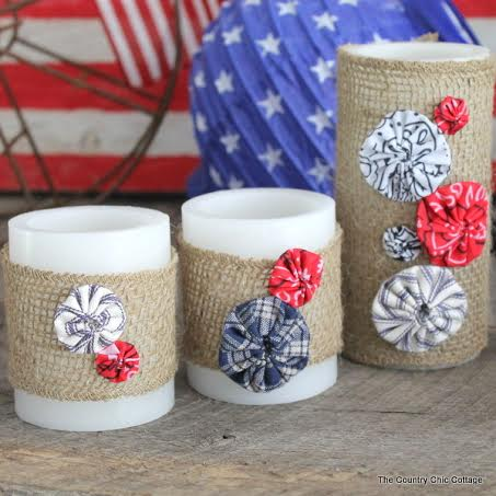 10 Patriotic Decorations Candle Wraps