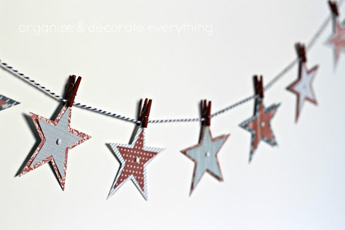 10 Patriotic Decorations star Garland