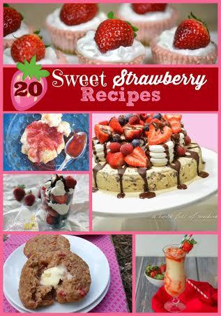 20 Sweet Strawberry Recipes #recipes