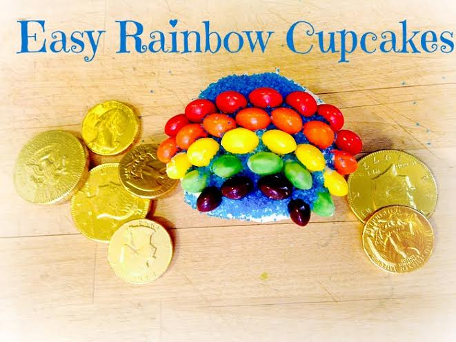 Easy Rainbow Cupcakes #recipe