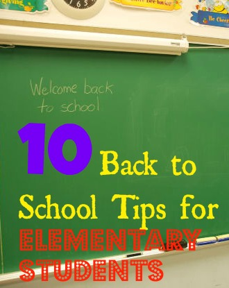 10 Back to School Tips for Elementary Students