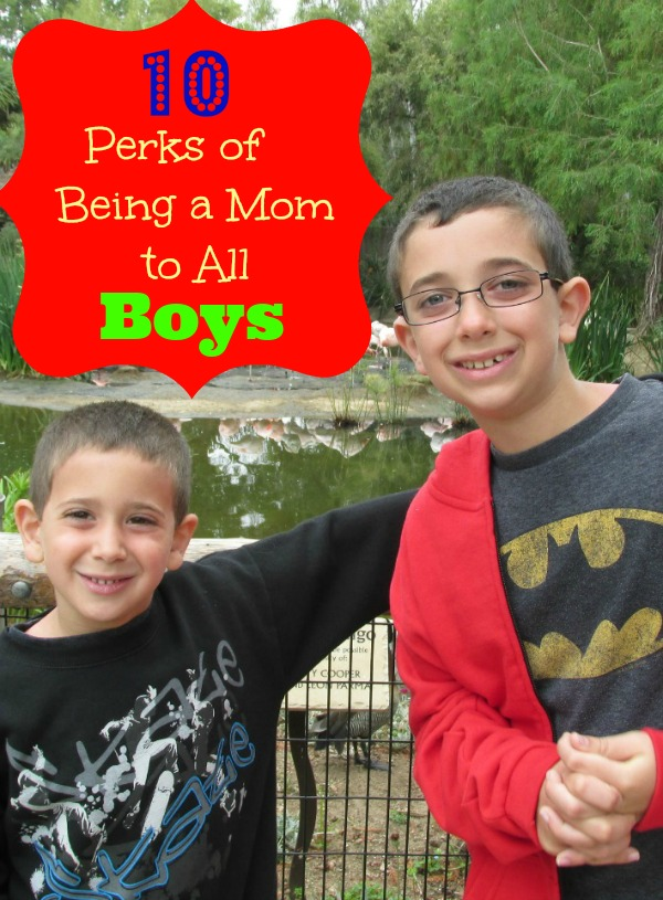 10 Perks of Being a Mom to All Boys