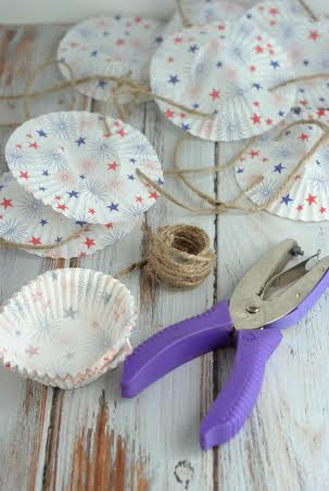 DIY Patriotic Star Bunting Banner Materials