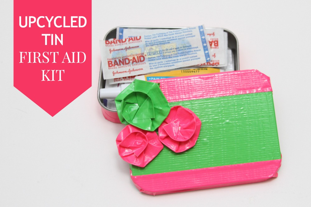 Upcycled Altoid Tin First Aid kit