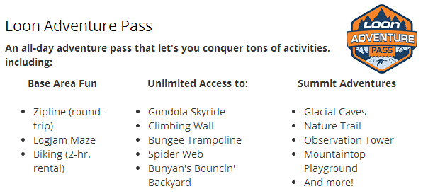 Loon adventure pass