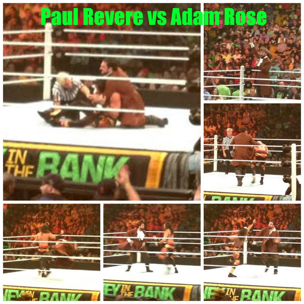 Paul Revere vs Adam Rose WWE Collage