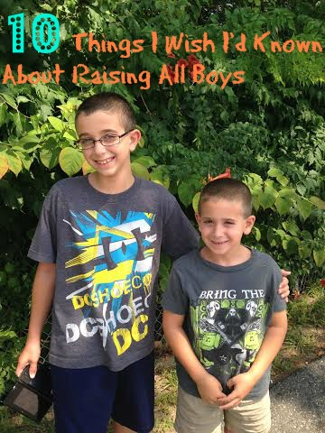 10 Things I Wish I'd Known About Raising All Boys