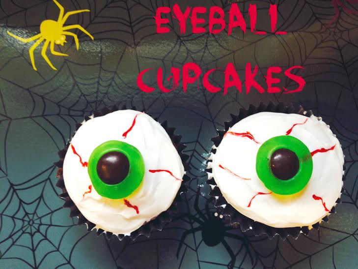 Easy Eyeball Cupcakes