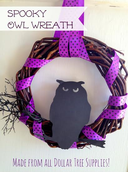 Spooky Owl Wreath Dollar Store DIY