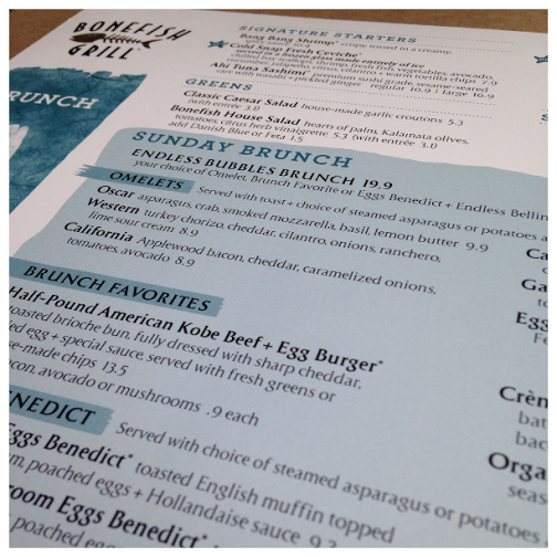 Sunday Brunch at Bonefish Grill #BonefishBrunch menu