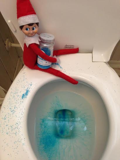 Toilet Bowl Fun Elf om the Shelf