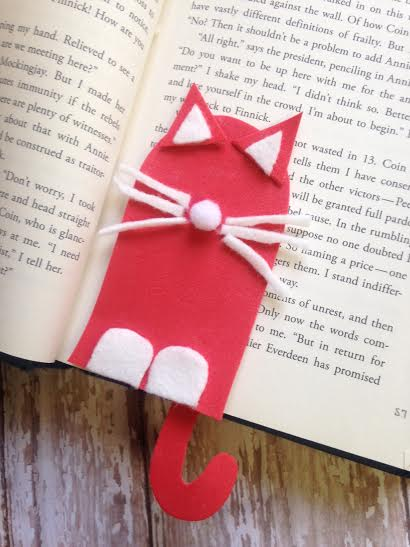 Cat Bookmark Craft for Kids
