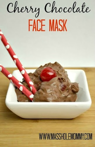cherry chocolate face mask with watermark