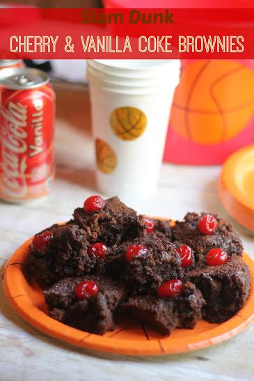 Easy Slam Dunk Cherry & Vanilla Coke Brownies #FinalFourPack #CollectiveBias