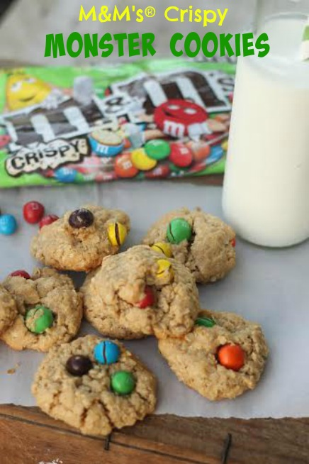 M&M's Crispy Monster Cookies Recipe