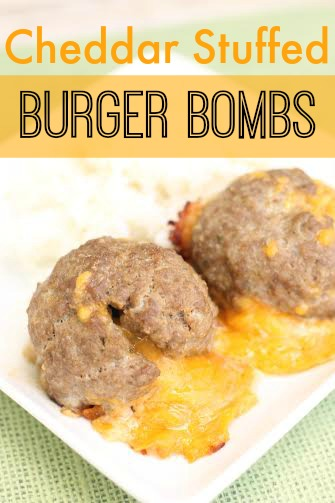 Cheddar Stuffed Burger Bombs