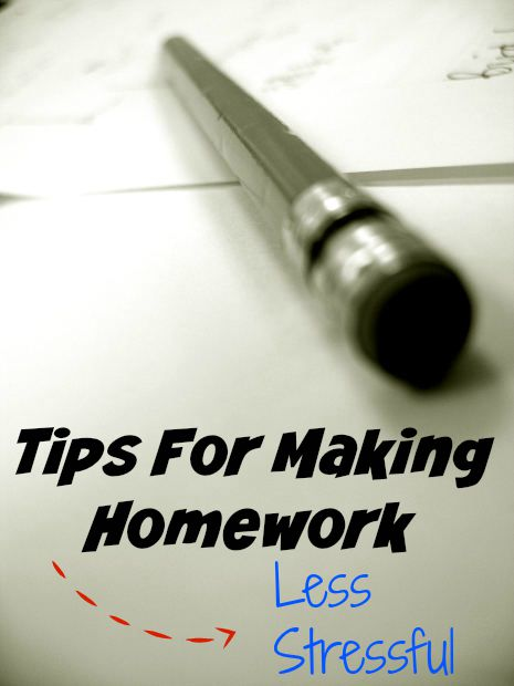 Tips For Making Homework Less Stressful