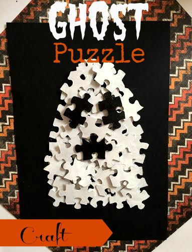 Easy Ghost Puzzle Craft