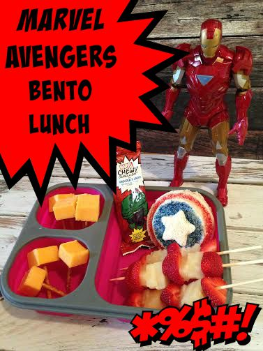 Marvel Avengers Bento Lunch Idea