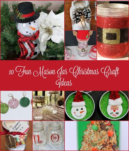 10 Fun Mason Jar Christmas Craft Ideas