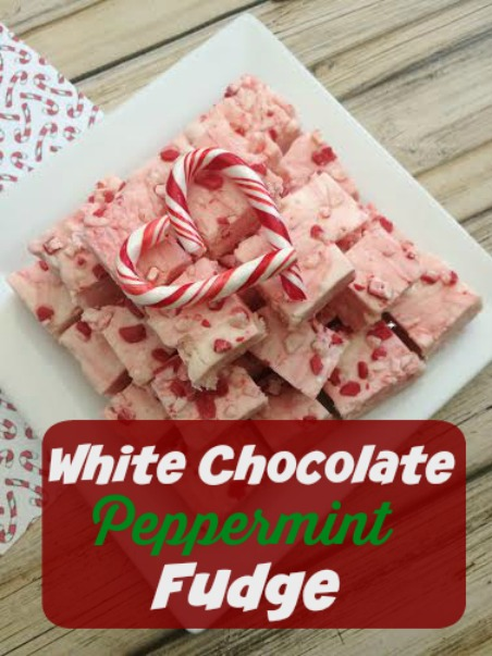 Easy White Chocolate Peppermint Fudge