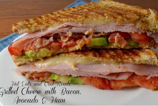 Grilled Cheese Sandwich with Bacon, Avocado & Ham Recipe