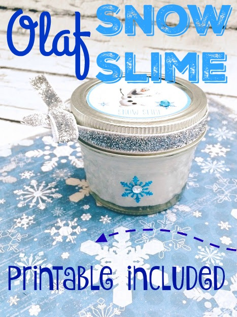Olaf Snow Slime with Printable