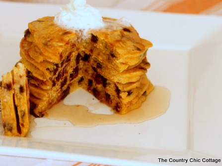 Pumpkin Chocolate Chip Pancake Recipe
