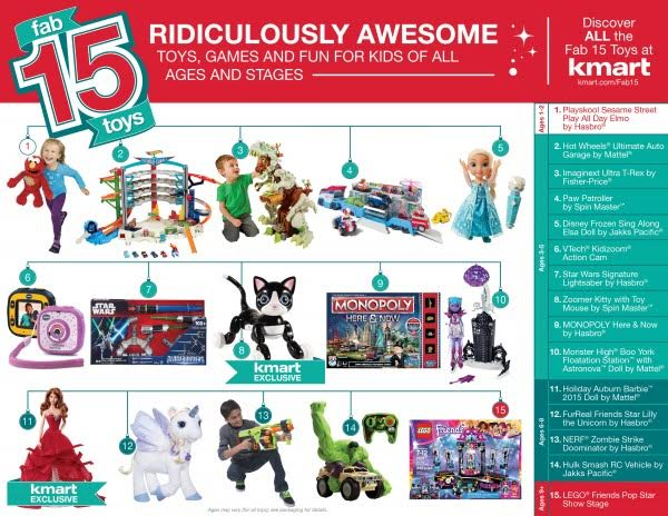 Kmart Fab 15 Toys are Awesome