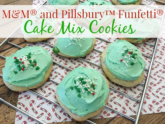 M&M® and Pillsbury™ Funfetti® Cake Mix Cookies