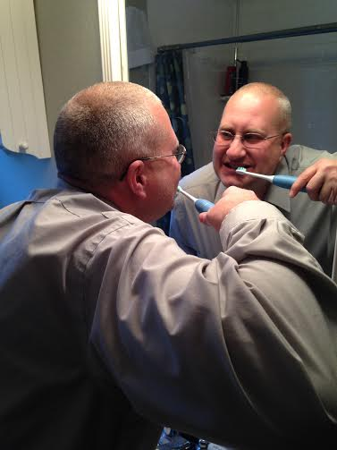 chris brushing