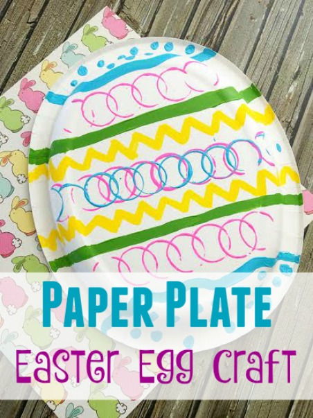 Easy Paper Plate Easter Egg Craft