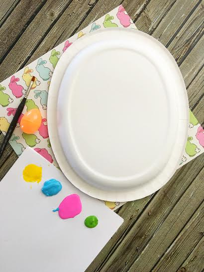 Paper Plate Easter Egg Craft