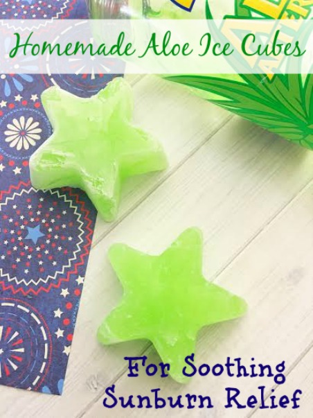 Homemade Aloe Ice Cubes For Soothing Sunburn Relief