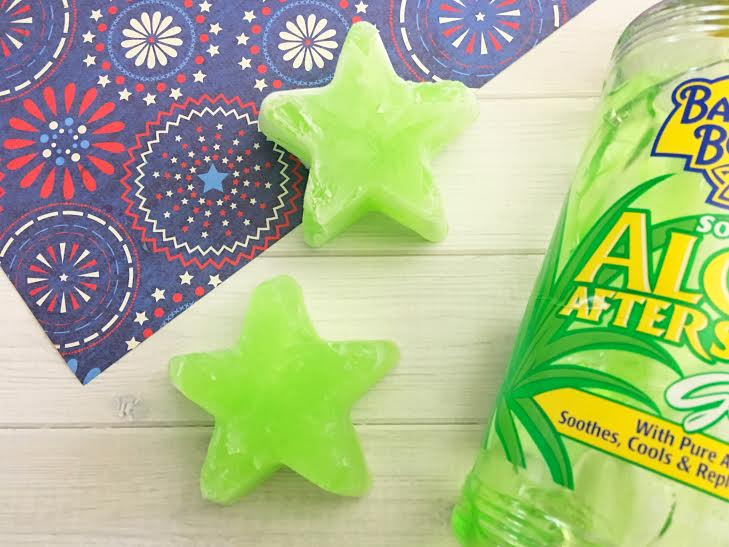 Homemade Aloe Ice Cubes For Soothing Sunburn Relief1