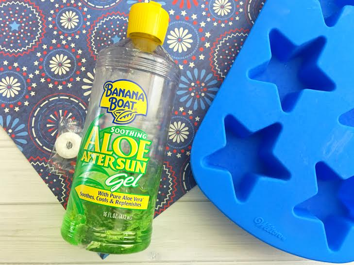 Homemade Aloe Ice Cubes For Soothing Sunburn Relief3