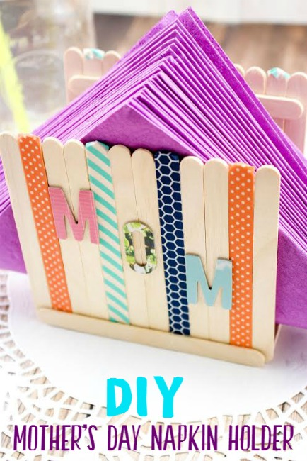This Diy Mother S Day Napkin Holder Is Easy To Make It S