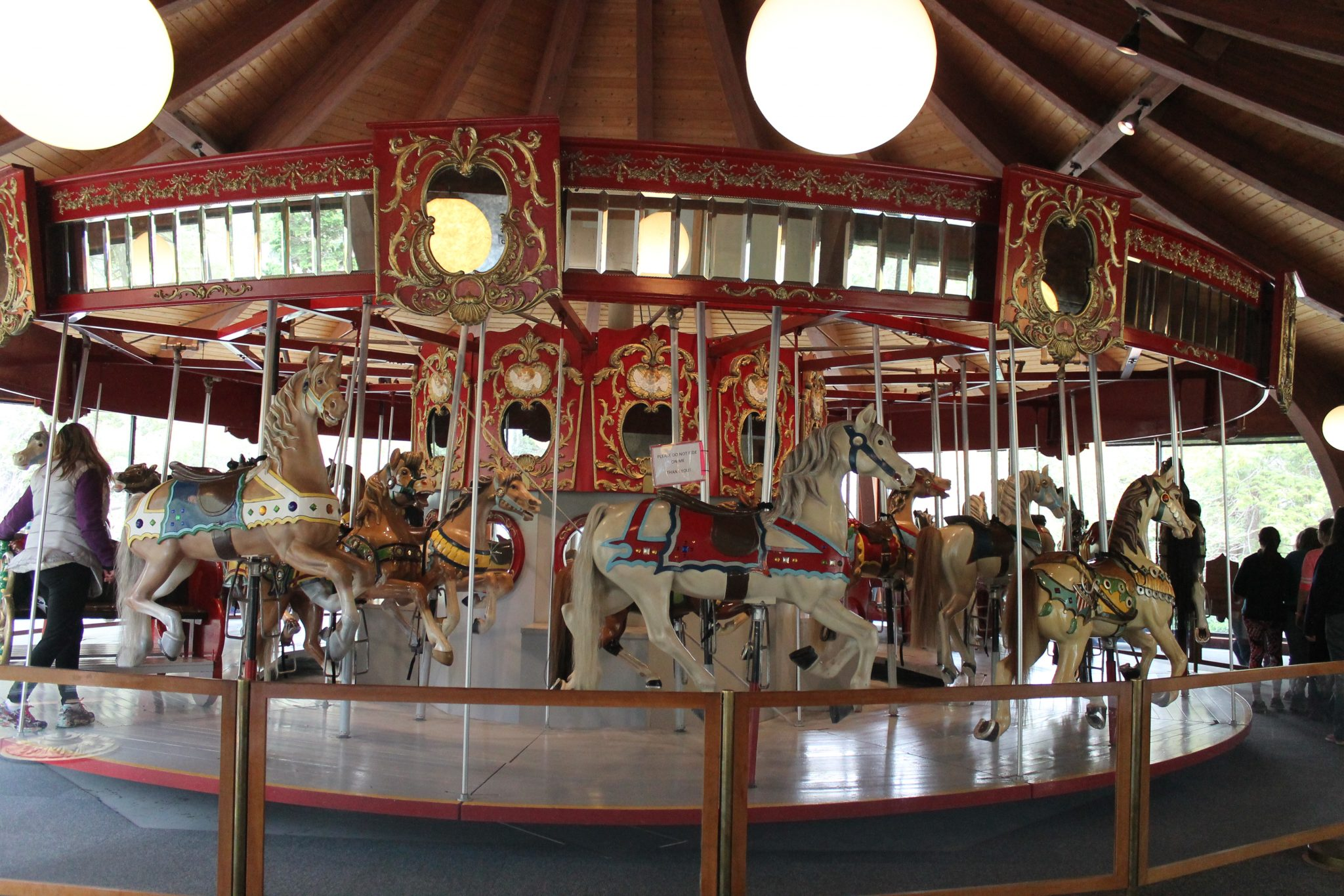 Charles Loof Wooden Merry Go Round