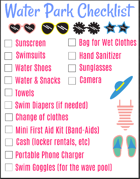 Here's everything you should bring with you for a fun day at the water park with the family!