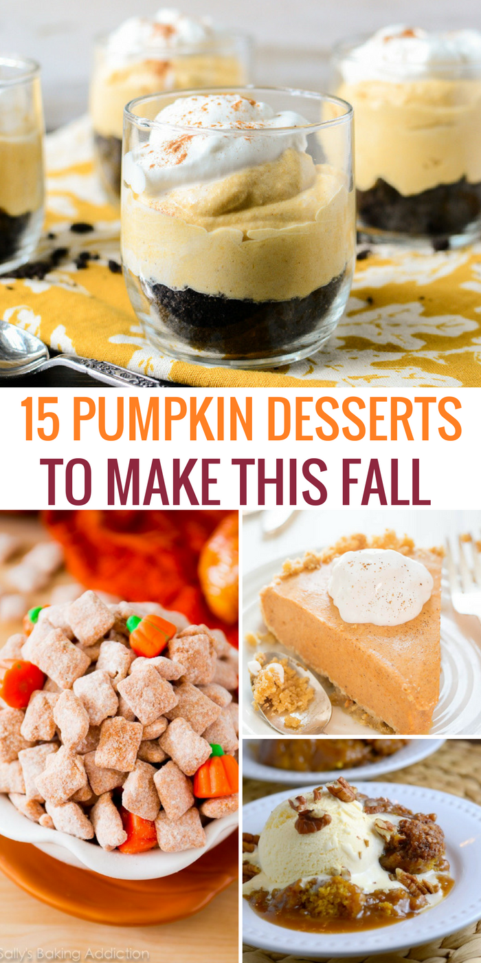 If you're a fan of pumpkin desserts, you'll love this list of recipes to make this fall!
