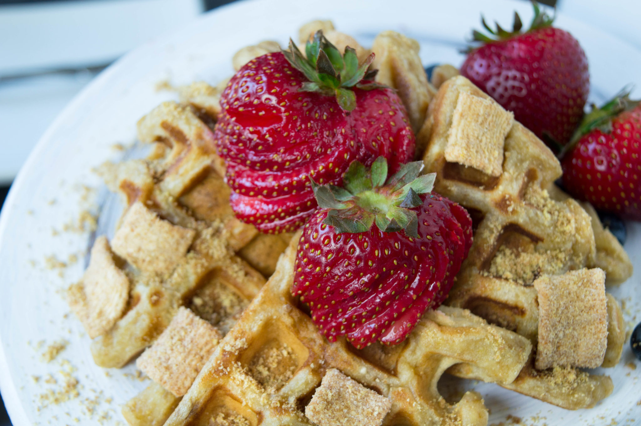 If you are a fan of Cinnamon Toast Crunch, try these Cinnamon Toast Crunch Waffles for Breakfast - they're easy to make and delicious!