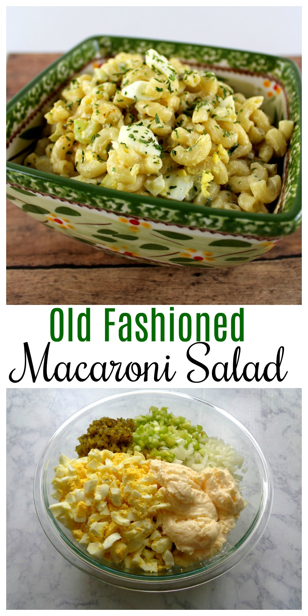 Try this Old Fashioned Macaroni Salad this summer. It's easy to make and it is a perfect side dish to bring to cookouts and get-togethers.