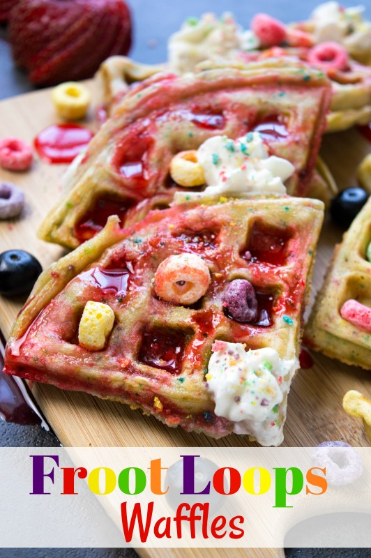 Froot Loops Waffles are a great way to make breakfast fun!