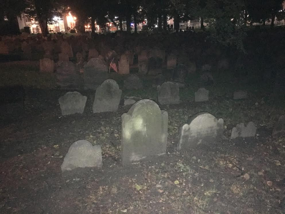 Explore Boston's most chilling murder sites, haunted places and spend time with the dead on the Ghosts & Gravestones tour.