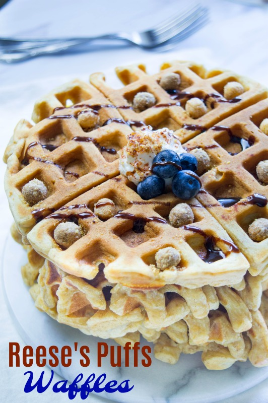 Reese's Puffs Waffles for Breakfast is an Awesome way to start your day!