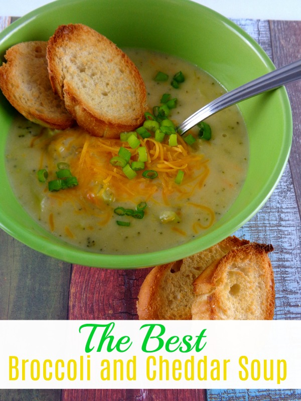 Nothing warms you up like a warm bowl of soup on a chilly day. This Broccoli and Cheddar Soup is easy to make and it's absolutely delicious.