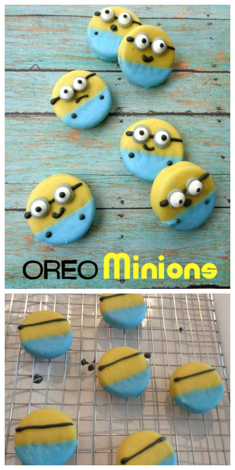 Have you ever wondered how to make Oreo Minions? They are a super fun snack idea, easy to make and you're little minion lover will surely love these.