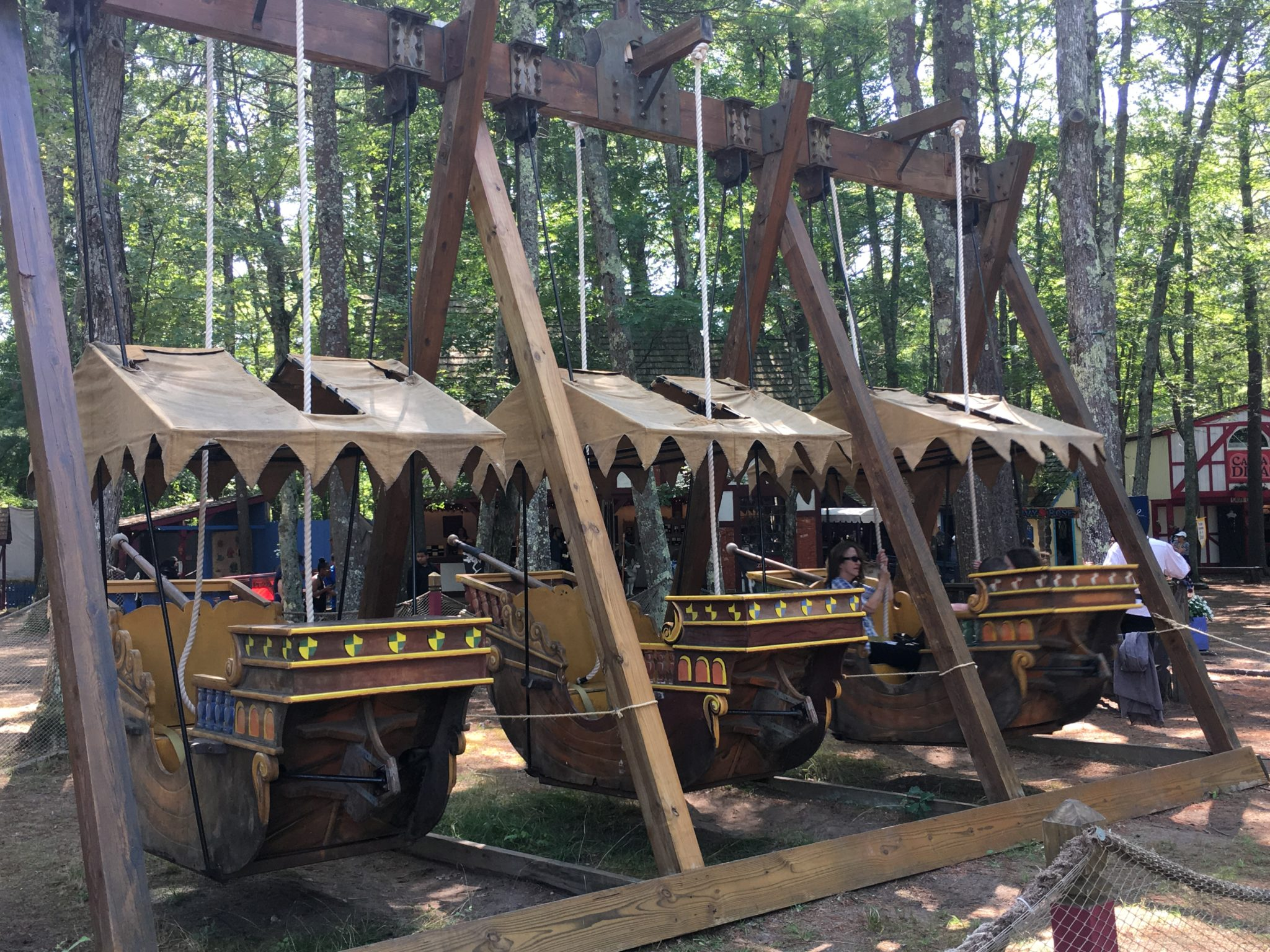 Ride the pirate ships when you are at King Richard's Faire!